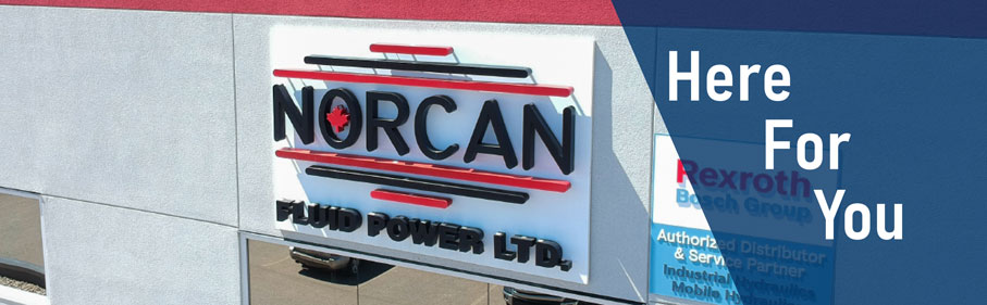 Norcan Fluid Power your trusted hydraulics partner for Bosch Rexroth, MP Filtri, Gates, ASA Hydraulic, Emmegi, Anfield, Prince and West Coast Cylinders